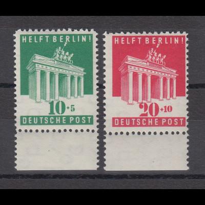 Bizone 1949 Berlin-Hilfe Mi.-Nr. 101-102 Satz 2 Werte **