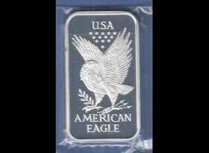 HERAEUS Sammler-Silberbarren USA American Eagle 31,10g Ag999