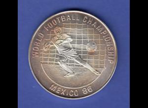 Kambodscha 20 Riels - Fußball Weltmeisterschaft 1986 in Mexico Ag999