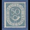 Bundesrepublik Posthornsatz 50 Pfg-Wert Mi.-Nr. 134 ** tiefst gepr. Schlegel