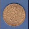 Goldmünze Dt. Kaiserreich Preußen Wilhelm I. 10 Mark A 1878 3,99g 900er Gold