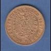 Goldmünze Dt. Kaiserreich Preußen Wilhelm I. 20 Mark A 1887 7,98g 900er Gold