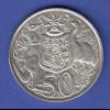 Australien Silbermünze 50 Cents Elizabeth II. 1966