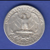 USA Silbermünze Liberty Quarter Dollar 1964