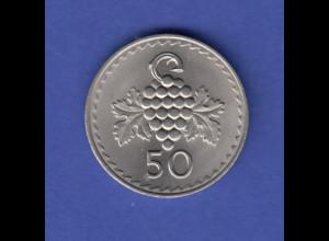 Zypern Umlaufmünze 50 Mils Trauben 1978