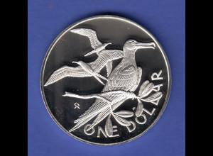 British Virgin Islands Silbermünze One Dollar 1975
