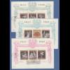 Österreich 1969 Opernblock-Einzelmarken auf 3 dekorativen FDC's