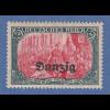 Danzig 1920 Freimarke Höchstwert 5 Mark Mi.-Nr. 15B **