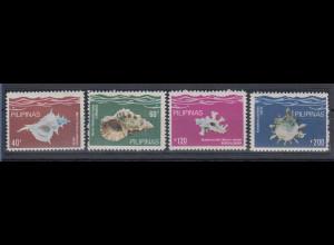 Philippinen 1980 Meeresschnecken Mi.-Nr. 1380-83 Satz 4 Werte **