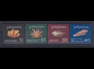 Philippinen 1970 Muscheln Mi.-Nr. 931-34 Satz 4 Werte **