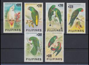 Philippinen 1984 Papagaien Mi.-Nr. 1556-61 Satz 6 Werte **