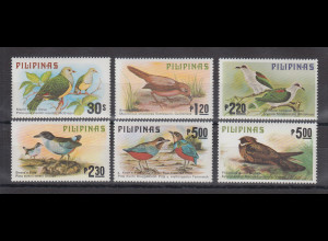 Philippinen 1979 Vögel Mi.-Nr. 1270-75 Satz 6 Werte **