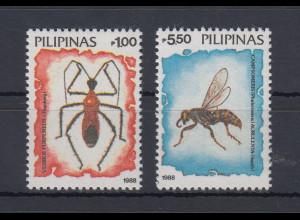 Philippinen 1988 Insekten Mi.-Nr. 1849-50 2 Werte **