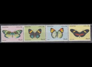 Pakistan 1995 Schmetterlinge Mi.-Nr. 935-38 Satz 4 Werte **