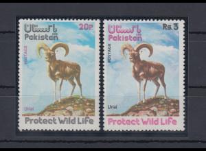 Pakistan 1975 Wildschaf Mi.-Nr. 396-97 Satz 2 Werte**