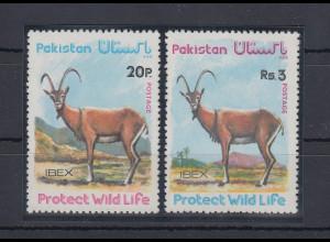 Pakistan 1976 Steinbock Mi.-Nr. 413-14 Satz 2 Werte **