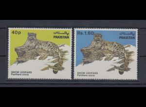 Pakistan 1984 Schneeleopard Mi.-Nr. 609-10 Satz 2 Werte **