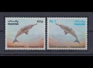 Pakistan 1982 Indus-Delfin Mi.-Nr. 569-70 Satz 2 Werte **