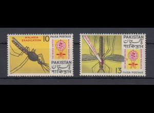 Pakistan 1962 Anopheles-Mücke Anti-Malaria Mi.-Nr. 163-64 Satz 2 Werte **