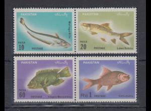 Pakistan 1973 Fische Mi.-Nr. 351-54 Satz 4 Werte **