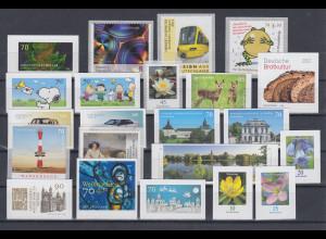 Bundesrepublik alle selbstklebenden Briefmarken des Jahrgangs 2018 komplett **