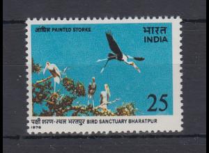 Indien 1976 Vogel Indien-Nimmersatt Mi.-Nr. 667 **