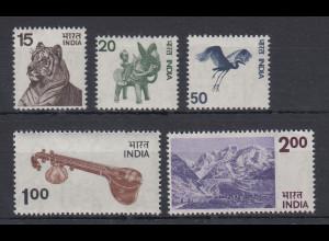 Indien 1975 Freimarken Mi.-Nr. 635-639 **