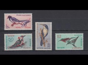 Indien 1968 Vögel Mi.-Nr. 464-467 Satz 4 Werte **