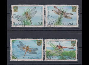 Tuvalu 1983 Libellen Mi.-Nr. 190-93 Satz 4 Werte gestempelt