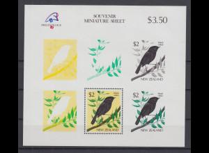 Neuseeland 1989 Schwarzer Rabe Mi.-Nr. Block 18 **