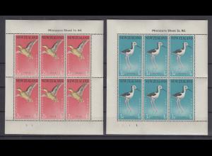 Neuseeland 1959 Vögel Mi.-Nr. 386-387 Kleinbogen-Satz **
