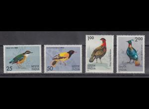 Indien 1975 Vögel Mi.-Nr. 625-28 Satz 4 Werte **