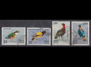 Indien 1975 Vögel Mi.-Nr. 625-28 Satz 4 Werte gestempelt