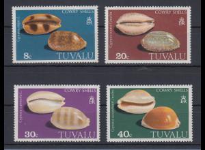 Tuvalu 1980 Muscheln Mi.-Nr. 116-119 Satz 4 Werte **