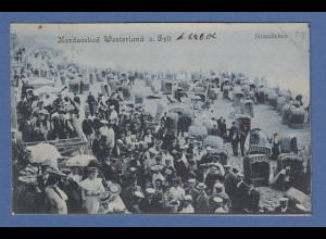 AK Nordseebad Westerland a. Sylt Strandleben gelaufen 1906