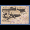 AK Gruss aus Westerland a.Sylt Leuchtturm Munkmarsch Damenbad gelaufen 1898