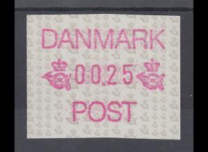 Dänemark 1990 FRAMA-ATM Postembleme, Mi.-Nr. 1 **