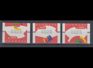 Dänemark 1998 FRAMA-ATM Segmente II , Set 3 ATM ** Mi.-Nr. 5-7