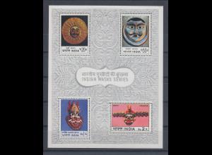 Indien 1974 INDIPEX Indische Masken Mi.-Nr. Block 2 **