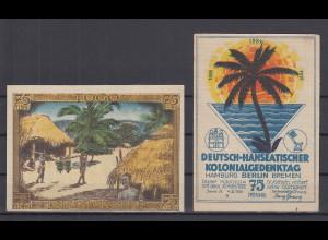 Notgeld Deutsch-Hanseatischer Kolonialgedenktag 75Pfg Motiv Togo Dorf