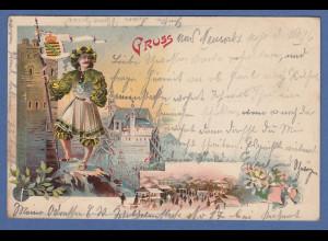 AK Gruss aus Neusalz gelaufen 1906