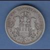 Deutsches Kaiserreich Hamburg Stadtwappen Silbermünze 2 Mark 1876 J