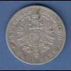 Deutsches Kaiserreich Württemberg König Karl Silbermünze 2 Mark 1876 F