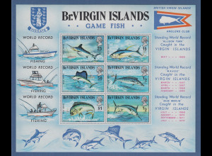 British Virgin Islands 1972 Sportfischerei Fische Mi.-Nr. Block 1 **