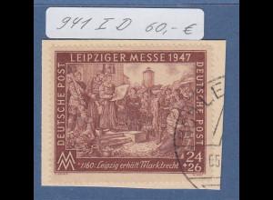 Alliierte Besetzung Leipziger Messe 1947 Mi.-Nr. 941 I D gest. geprüft Schlegel