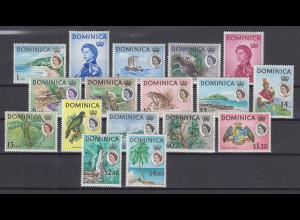 Dominica 1963 Freimarken Landesmotive Mi.-Nr. 160-176 Satz kpl. **