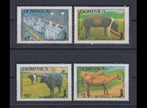 Dominica 1988 Landwirtschaft Mi.-Nr. 1117-1120 Satz kpl. **