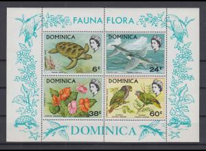 Dominica 1970 Fauna und Flora Mi.-Nr. Block 3 **