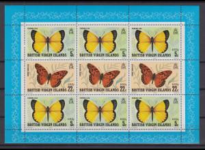 Jungferninseln / Virgin Islands 1978 Schmetterlinge Mi.-Nr. 344-45 KLB **