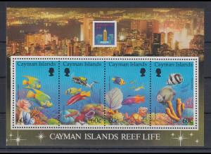 Kaiman-Inseln / Cayman Islands 1994 Leben am Riff / Fische Mi.-Nr. Block 18 **